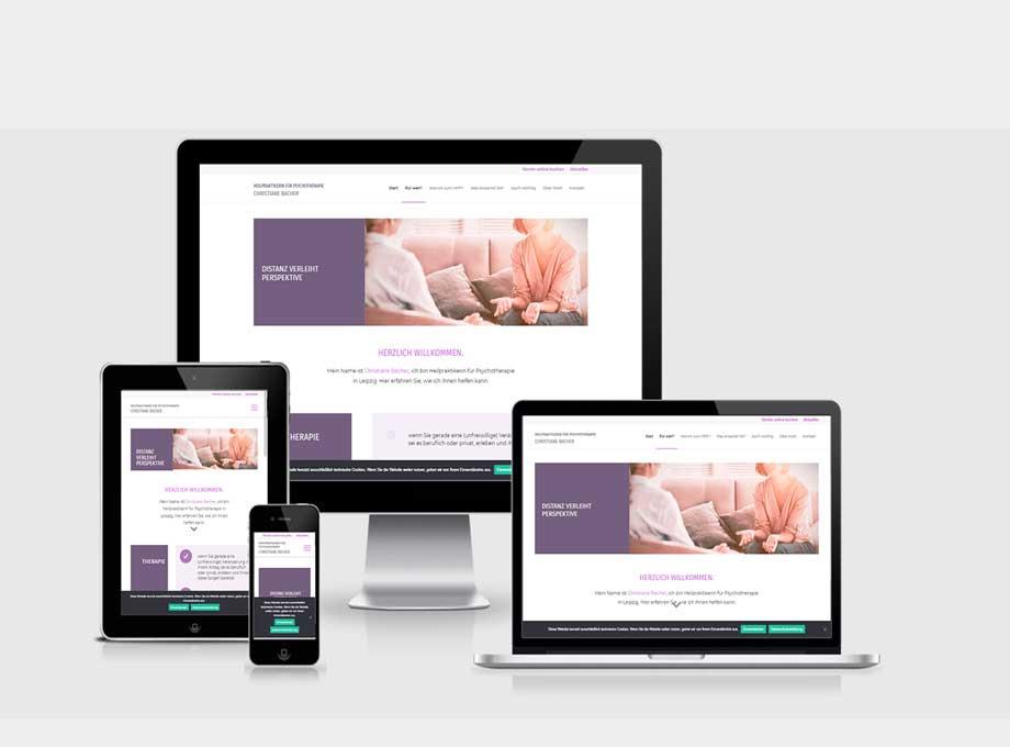 Webdesign Website mit WordPress