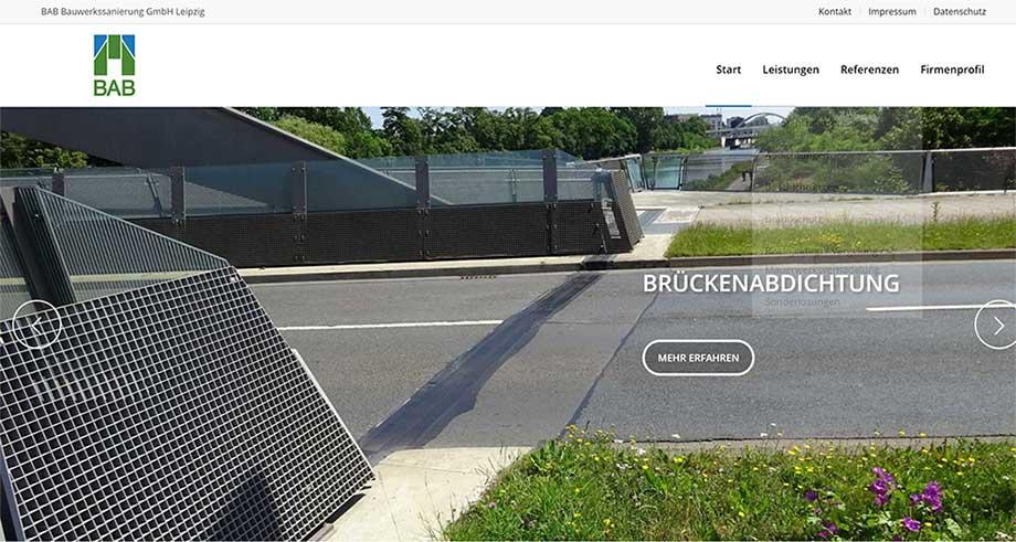 Website mit WordPress für Baufirma