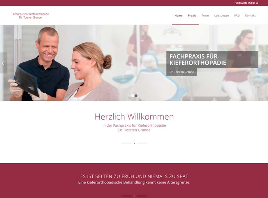 Webdesign WordPress Zahnarzt